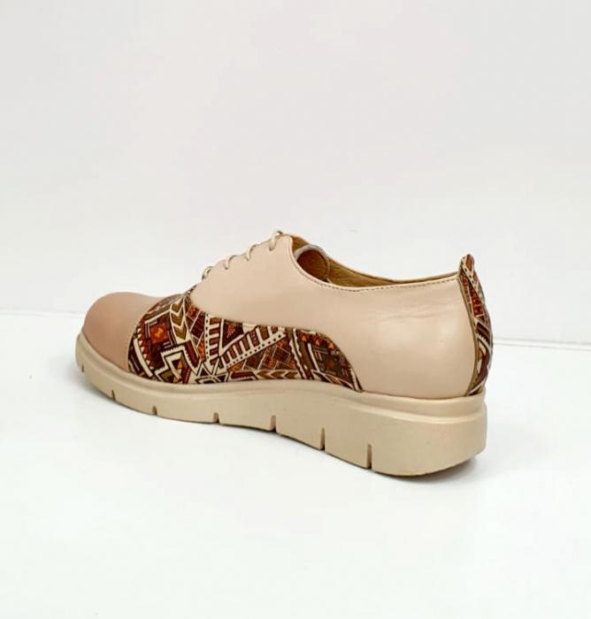 Pantofi Casual Piele Naturala Nude Brenda D02662 3