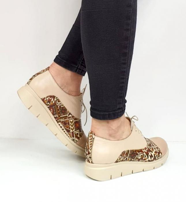 Pantofi Casual Piele Naturala Nude Brenda D02662 7