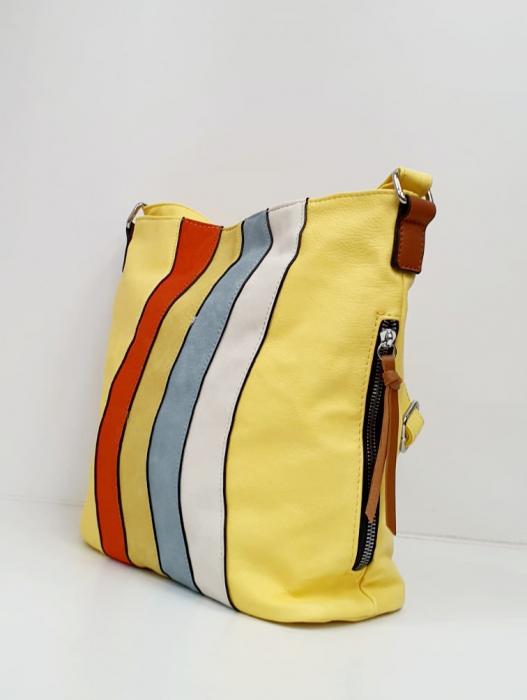 Geanta Dama Piele Multicolora Bega G00664 2