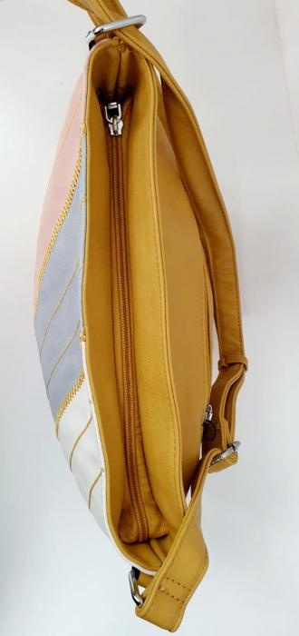 Geanta Dama Piele Multicolora Bega G00665 4