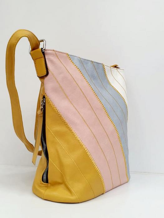 Geanta Dama Piele Multicolora Bega G00665 1