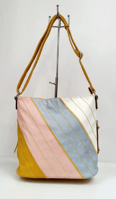 Geanta Dama Piele Multicolora Bega G00665 0