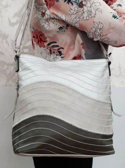 Geanta Dama Piele Multicolora Bega G00678 5