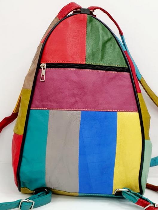 Rucsac Dama Piele Naturala Multicolor Seana G00680 3