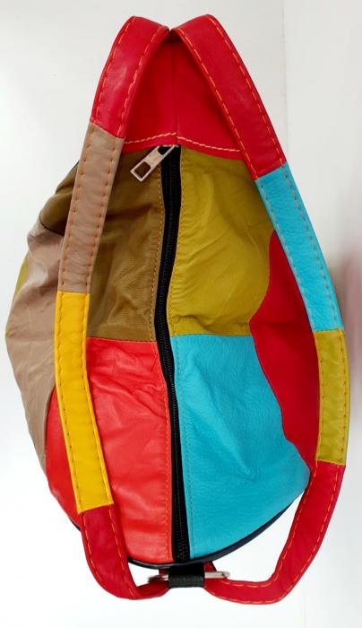 Rucsac Dama Piele Naturala Multicolor Seana G00680 4