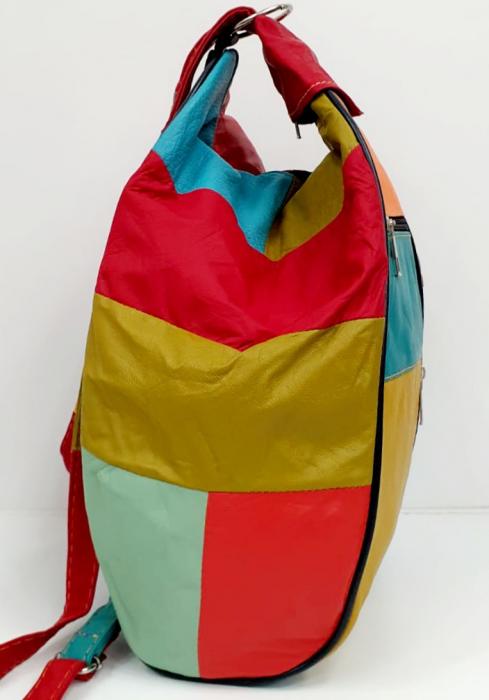 Rucsac Dama Piele Naturala Multicolor Seana G00680 1