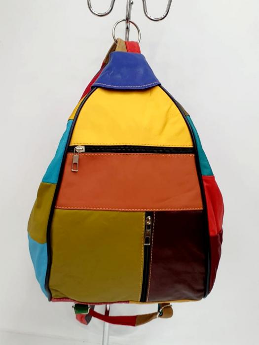 Rucsac Dama Piele Naturala Multicolor Seana G00681 4