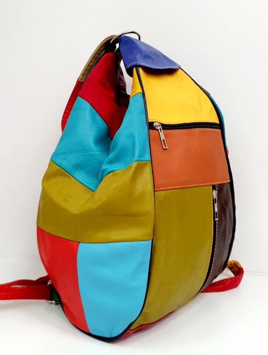Rucsac Dama Piele Naturala Multicolor Seana G00681 1