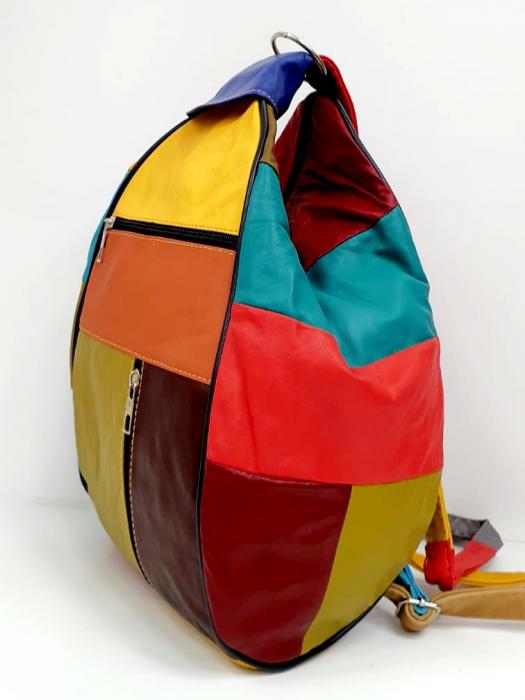 Rucsac Dama Piele Naturala Multicolor Seana G00681 2