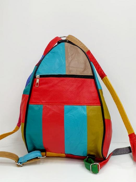 Rucsac Dama Piele Naturala Multicolor Seana G00681 3
