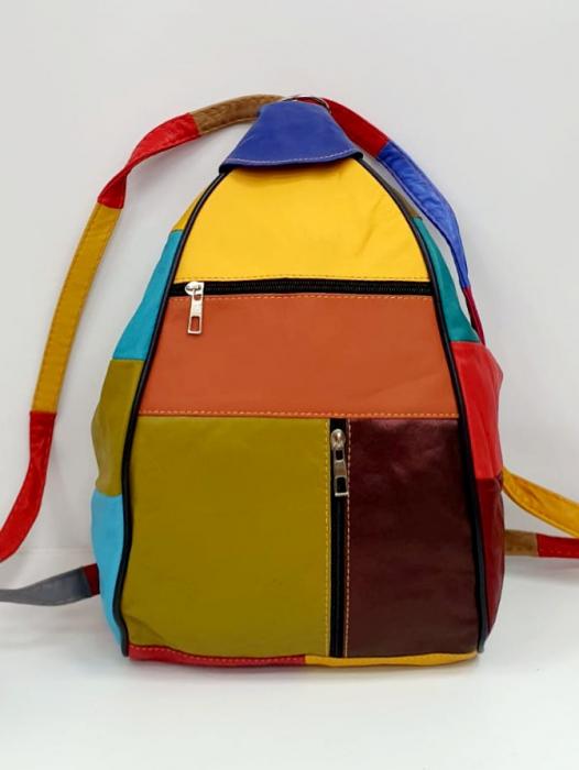 Rucsac Dama Piele Naturala Multicolor Seana G00681 0