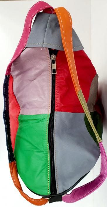 Rucsac Dama Piele Naturala Multicolor Seana G00682 4