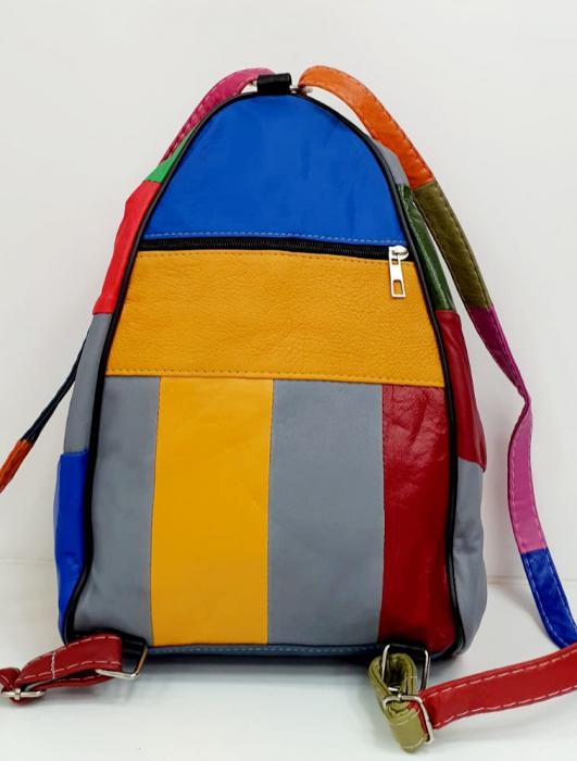 Rucsac Dama Piele Naturala Multicolor Seana G00682 3