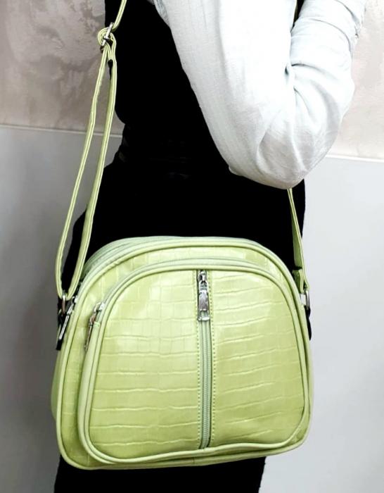 Geanta Dama Piele Verde Larisa G00724 5