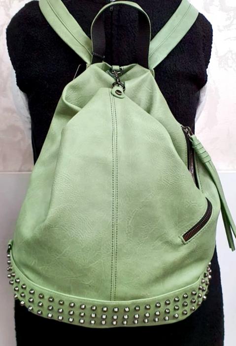 Rucsac Dama Piele Verde Mayara G00734 4