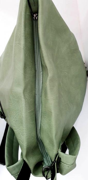 Rucsac Dama Piele Verde Mayara G00734 3