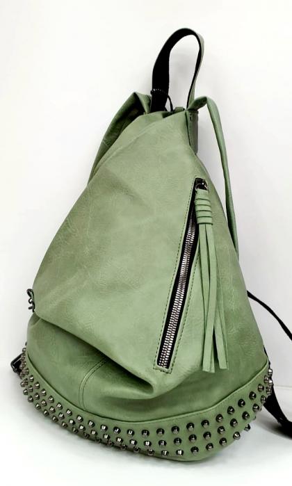 Rucsac Dama Piele Verde Mayara G00734 1