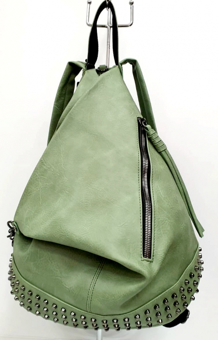 Rucsac Dama Piele Verde Mayara G00734 0