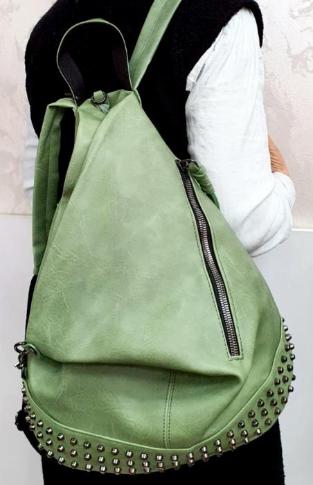 Rucsac Dama Piele Verde Mayara G00734 5