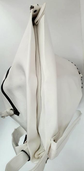 Rucsac Dama Piele Alb Mayara G00735 6