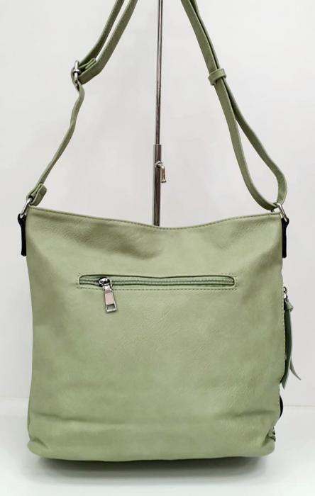 Geanta Dama Piele Verde Begas G00746 3