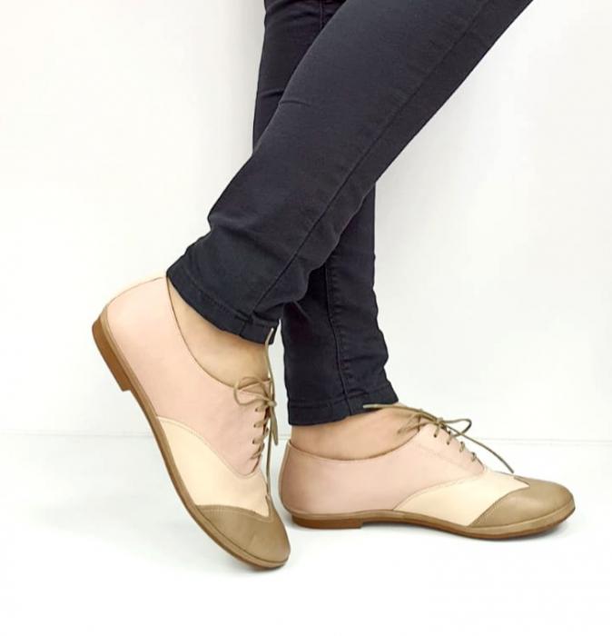 Pantofi Casual Piele Naturala Nude Eluise D02696 0