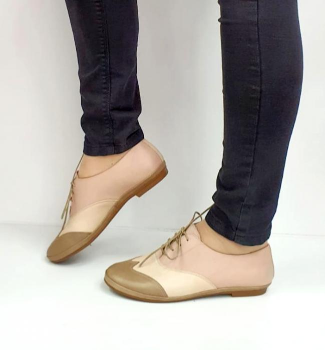 Pantofi Casual Piele Naturala Nude Eluise D02696 1