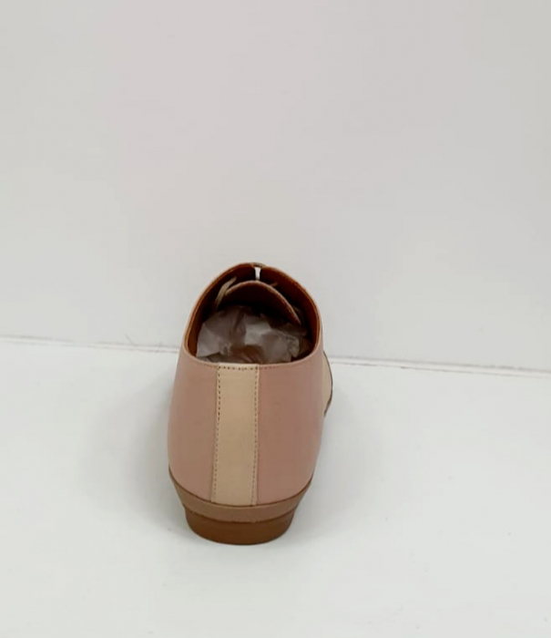Pantofi Casual Piele Naturala Nude Eluise D02696 8