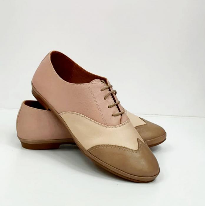 Pantofi Casual Piele Naturala Nude Eluise D02696 6