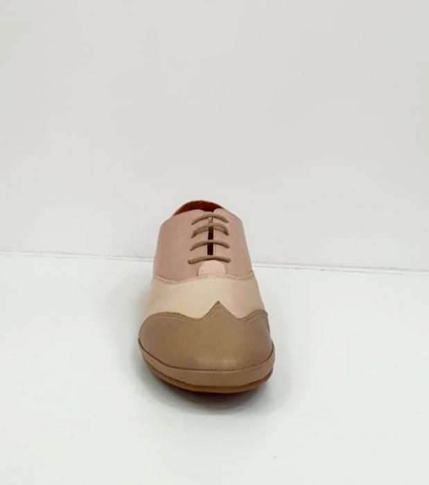 Pantofi Casual Piele Naturala Nude Eluise D02696 7