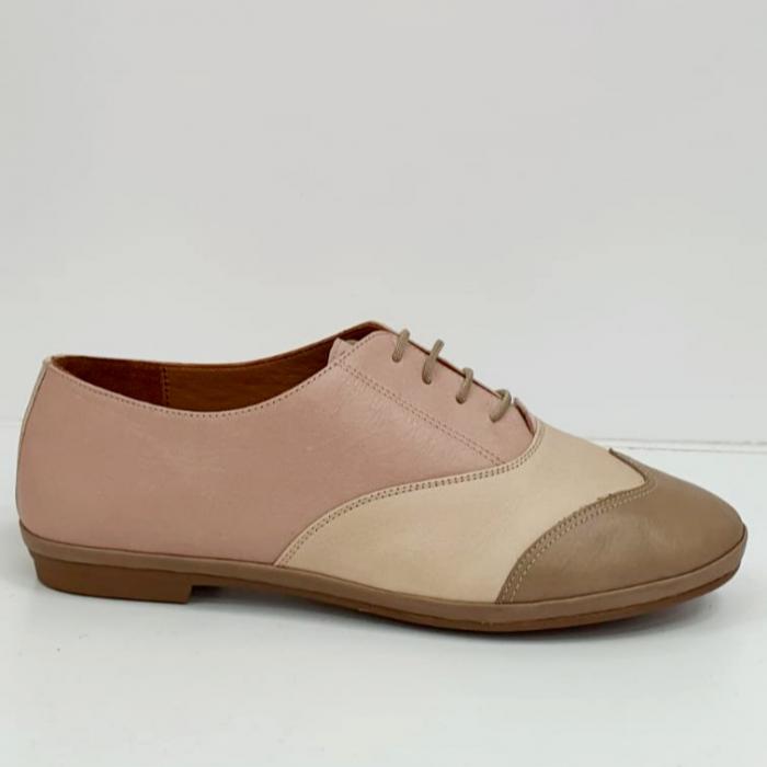 Pantofi Casual Piele Naturala Nude Eluise D02696 5