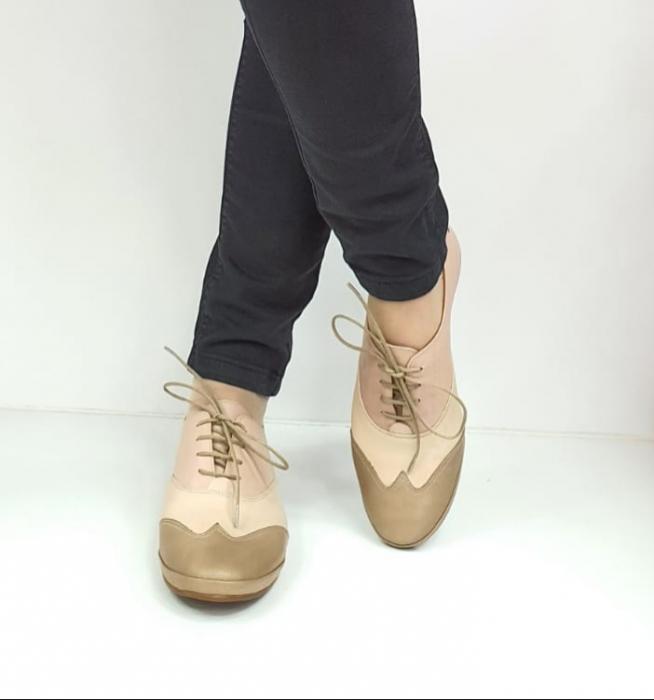 Pantofi Casual Piele Naturala Nude Eluise D02696 3