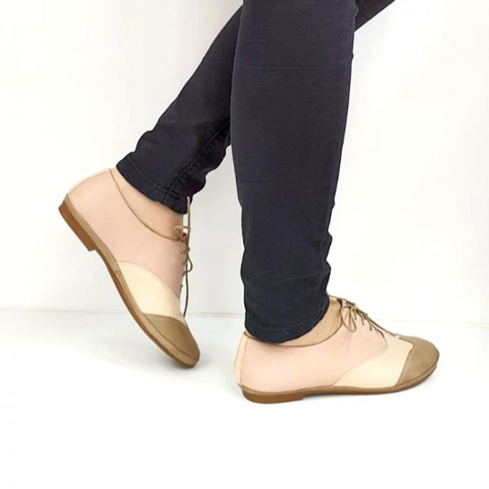 Pantofi Casual Piele Naturala Nude Eluise D02696 4