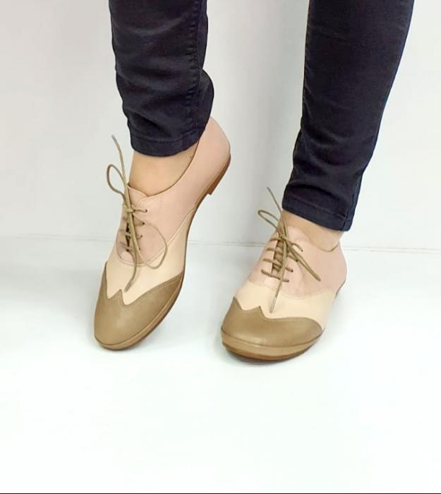 Pantofi Casual Piele Naturala Nude Eluise D02696 2