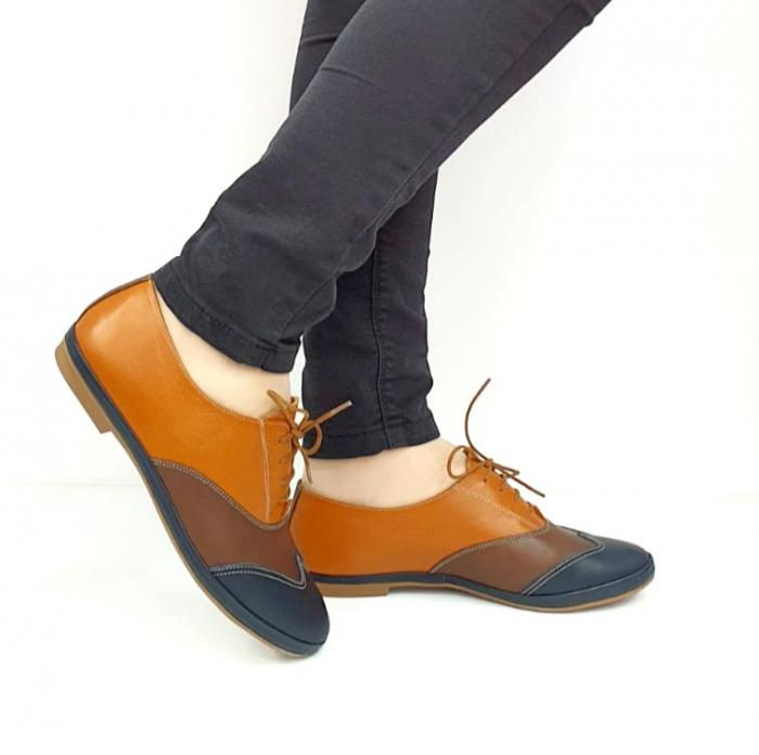 Pantofi Casual Piele Naturala Bleumarin Eluise D02699 0