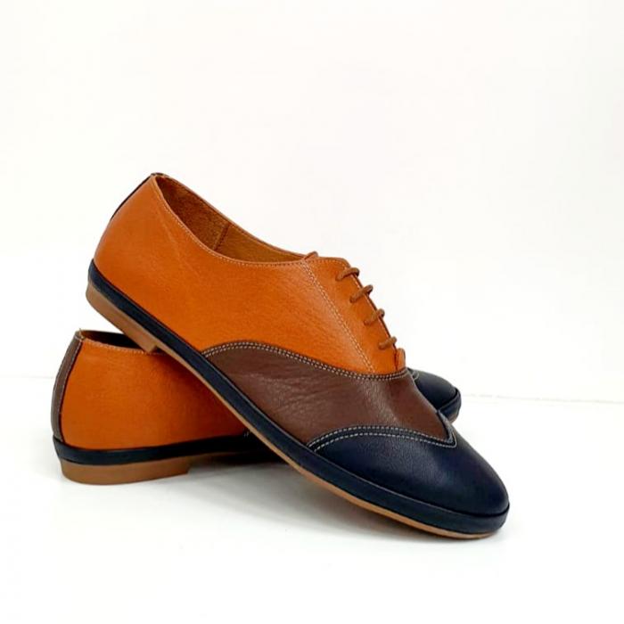 Pantofi Casual Piele Naturala Bleumarin Eluise D02699 5