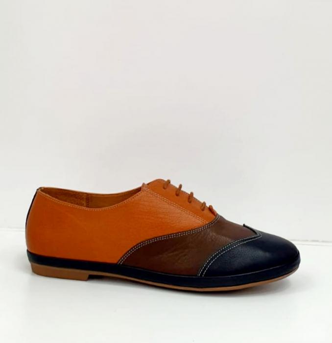 Pantofi Casual Piele Naturala Bleumarin Eluise D02699 6