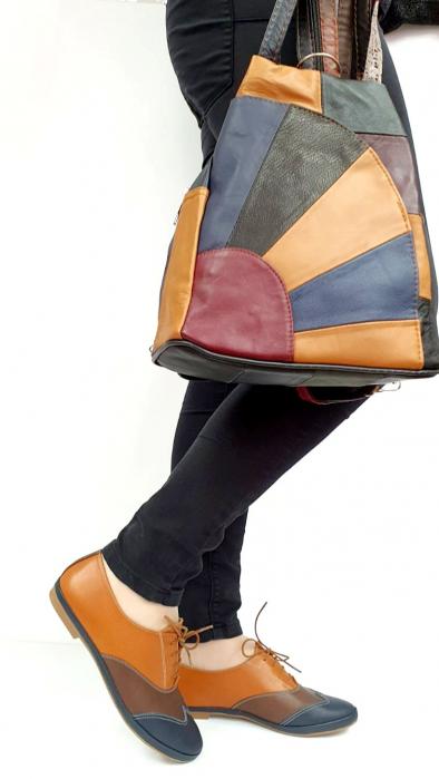Pantofi Casual Piele Naturala Bleumarin Eluise D02699 9