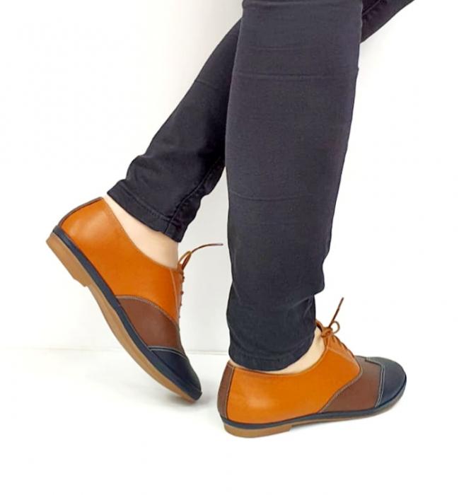 Pantofi Casual Piele Naturala Bleumarin Eluise D02699 4