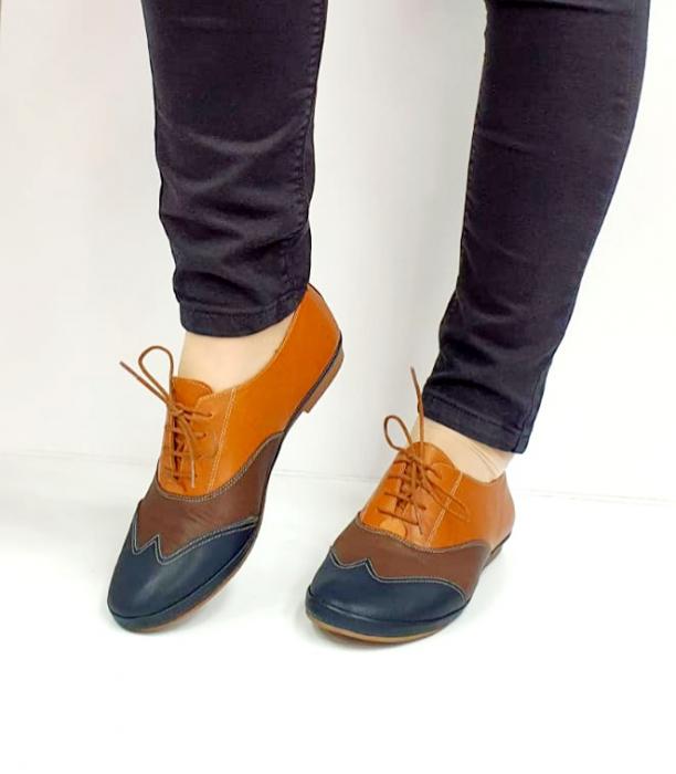 Pantofi Casual Piele Naturala Bleumarin Eluise D02699 2