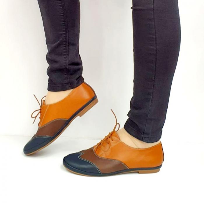 Pantofi Casual Piele Naturala Bleumarin Eluise D02699 1