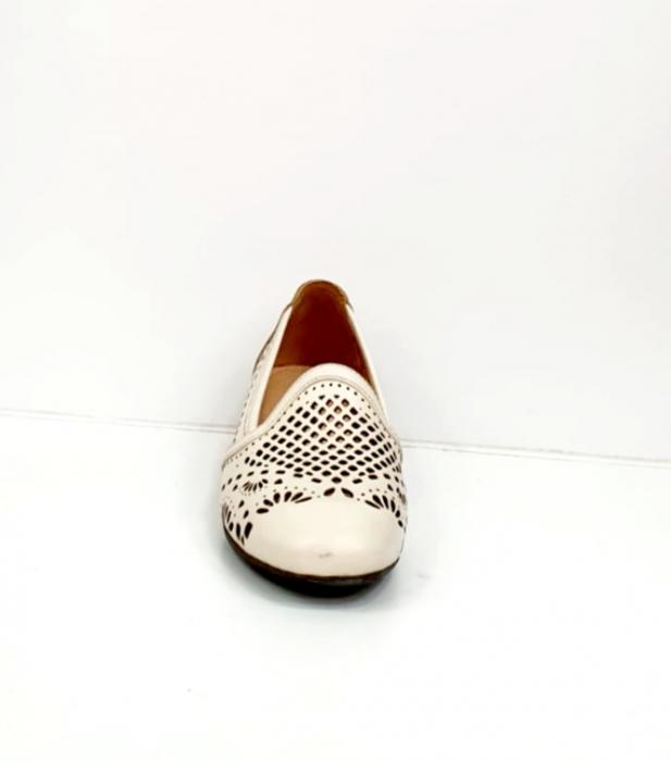 Pantofi cu toc Piele Naturala Bej Rosalia D02700 3