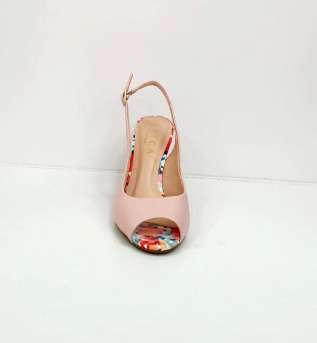 Sandale Dama Piele Naturala Roz Epica Graziela D02701 8