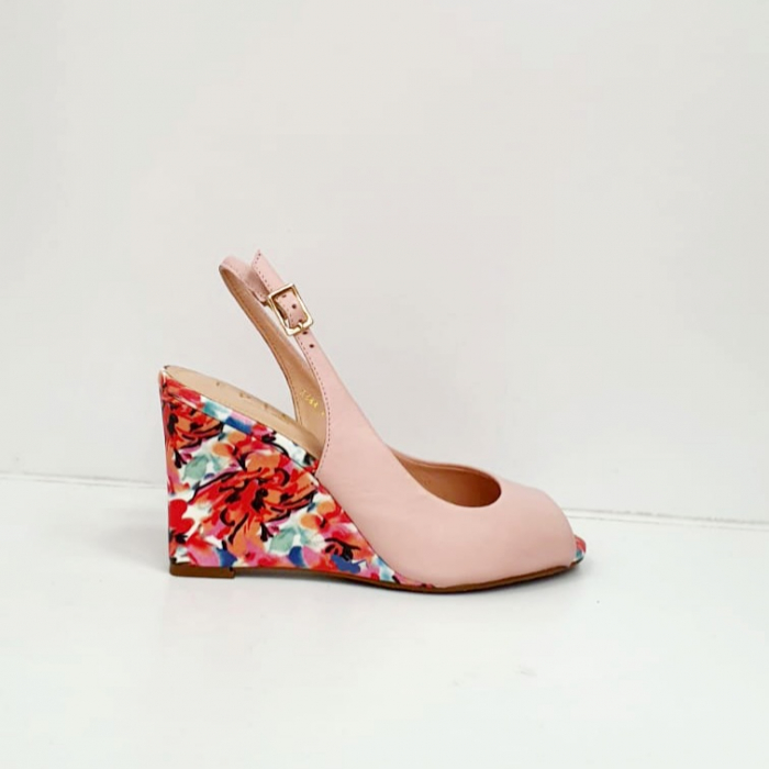 Sandale Dama Piele Naturala Roz Epica Graziela D02701 5