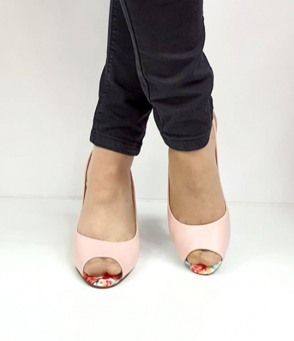 Sandale Dama Piele Naturala Roz Epica Graziela D02701 3