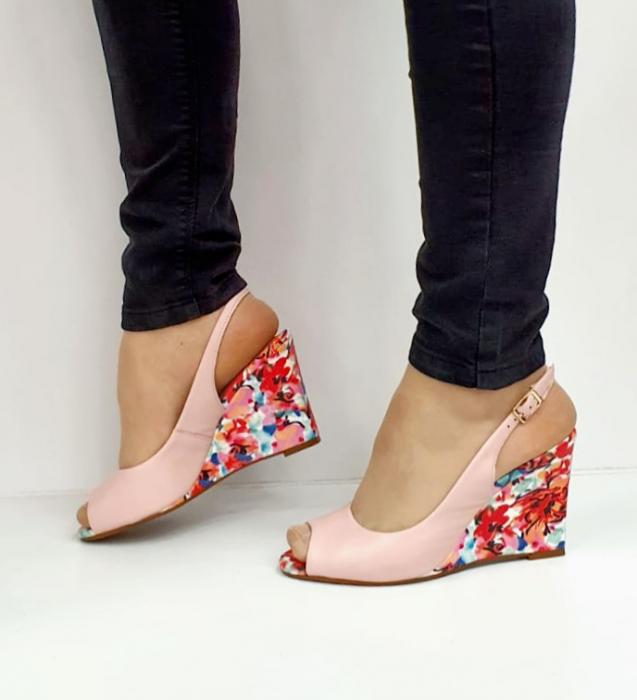 Sandale Dama Piele Naturala Roz Epica Graziela D02701 1