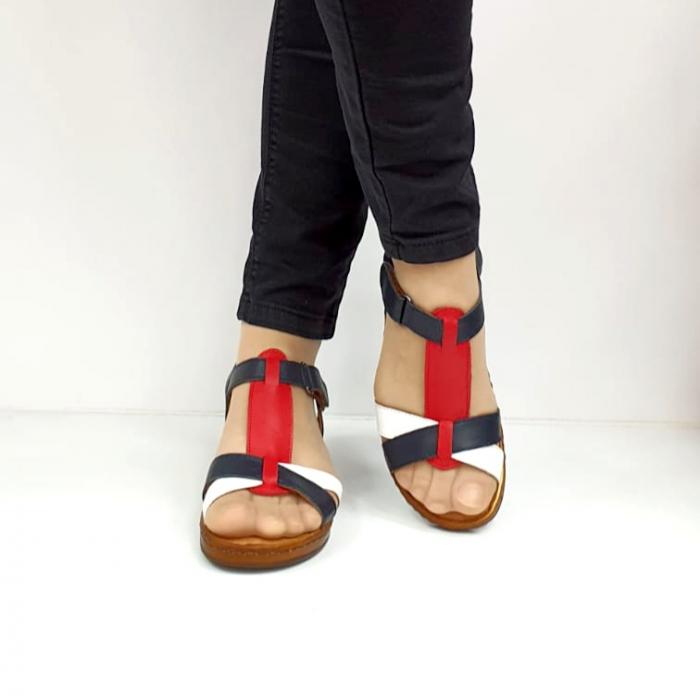 Sandale Dama Piele Naturala Negre Marilena D02702 3