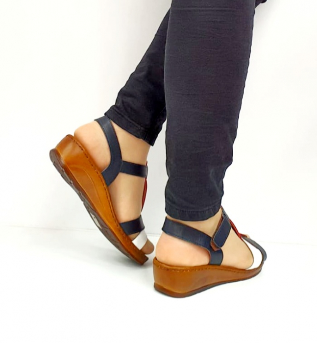 Sandale Dama Piele Naturala Negre Marilena D02702 4