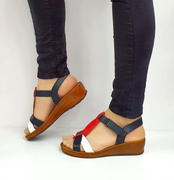 Sandale Dama Piele Naturala Negre Marilena D02702 1