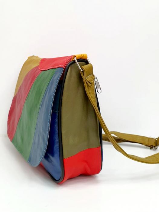 Geanta Dama Piele Naturala Multicolora Ada G00776 2